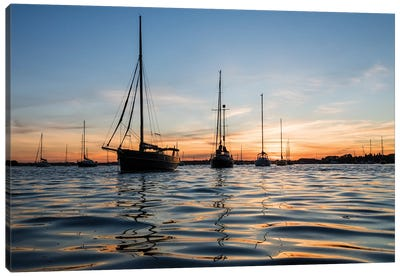 Sunset Sailing Canvas Art Print