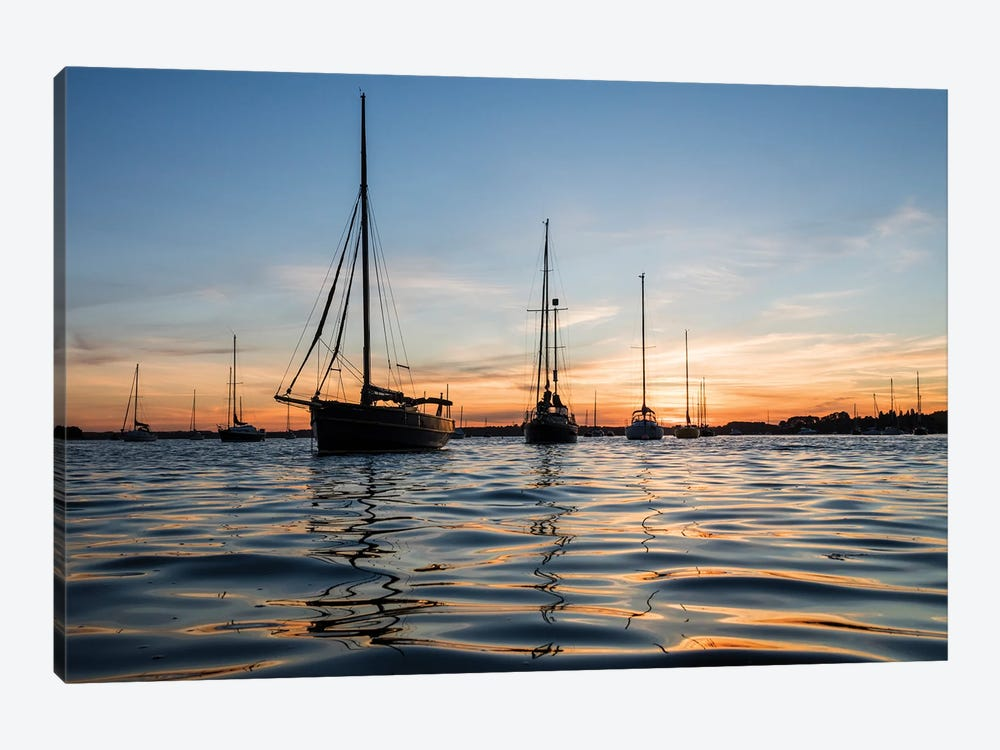 Sunset Sailing by Andrew Lever 1-piece Canvas Art