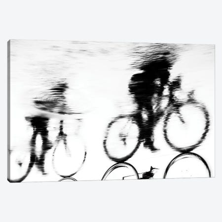 Cycling Silhouette Canvas Print #AWL47} by Andrew Lever Canvas Artwork