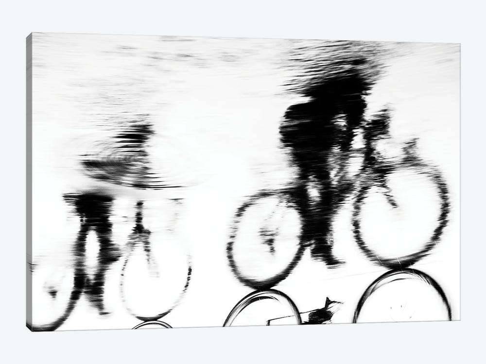 Cycling Silhouette by Andrew Lever 1-piece Art Print