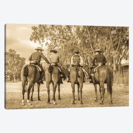 Spanish Cowboys Canvas Print #AWL52} by Andrew Lever Canvas Wall Art