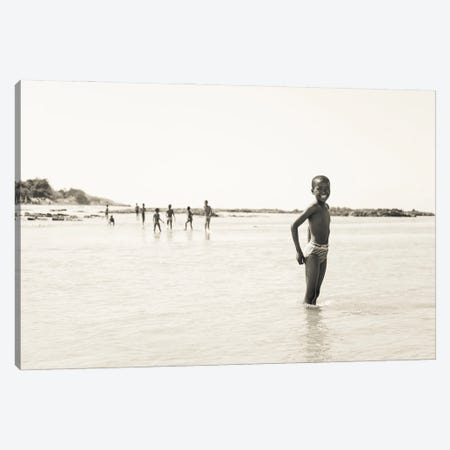 River Boys Canvas Print #AWL6} by Andrew Lever Canvas Artwork