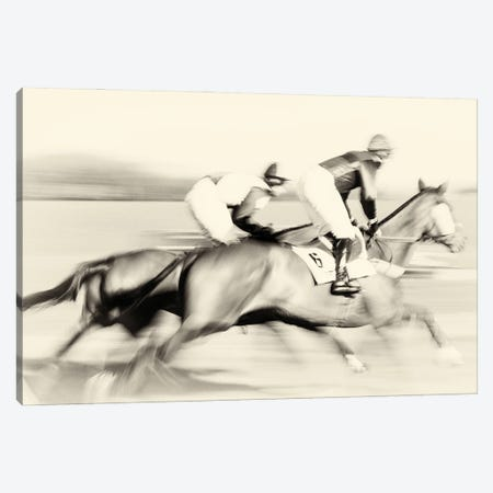 A Day At The Races Canvas Print #AWL71} by Andrew Lever Canvas Artwork