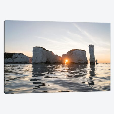 Old Harry Rocks Canvas Print #AWL72} by Andrew Lever Canvas Artwork