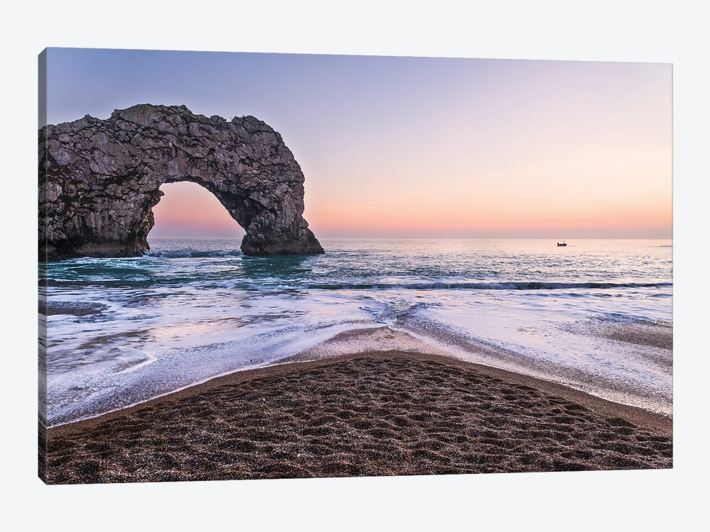 Durdle Door Sunset by Andrew Lever 1-piece Canvas Art