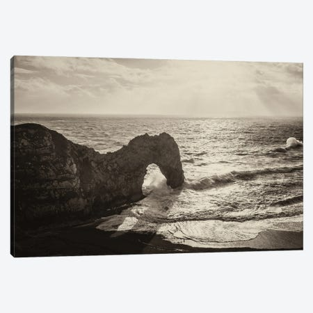Durdle Door Rock Canvas Print #AWL80} by Andrew Lever Canvas Print