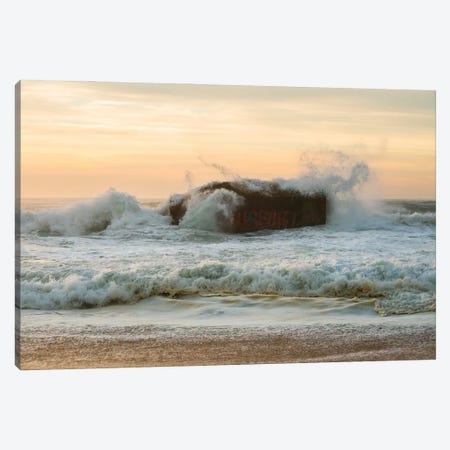 Sea Bunker Canvas Print #AWL83} by Andrew Lever Art Print