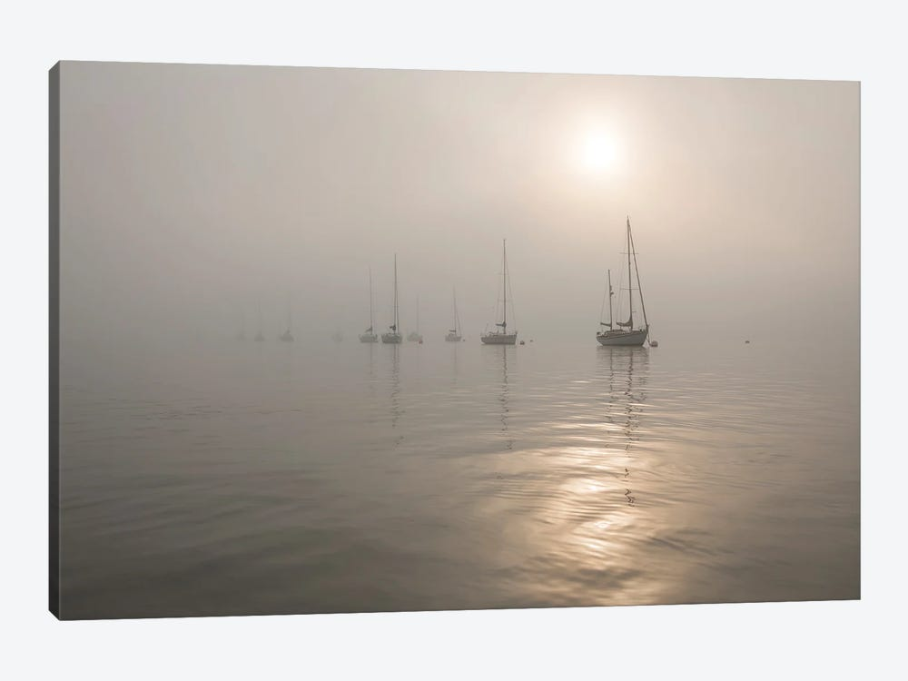 Boats In The Fog by Andrew Lever 1-piece Canvas Artwork