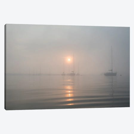 Boats In The Fog II Canvas Print #AWL94} by Andrew Lever Canvas Print
