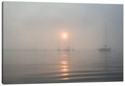 Boats In The Fog II Canvas Art Print