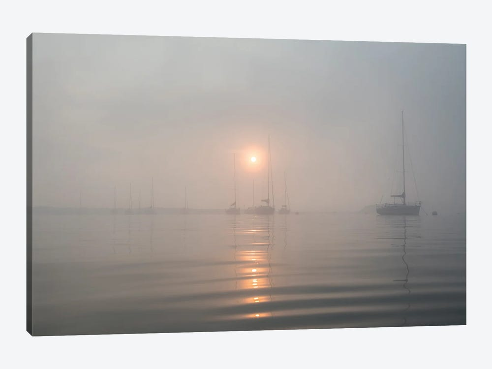 Boats In The Fog II by Andrew Lever 1-piece Art Print