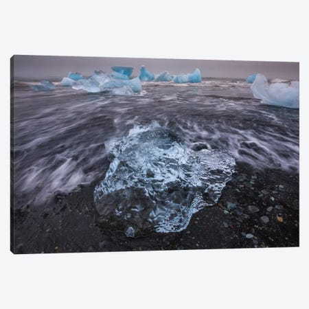 Bergy bits, Iceland II Canvas Print #AWO10} by Art Wolfe Canvas Print