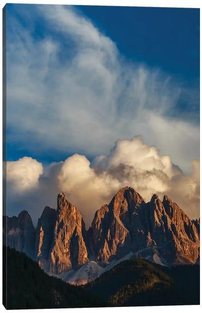 Mountain peaks, Dolomites, Italy Canvas Art Print