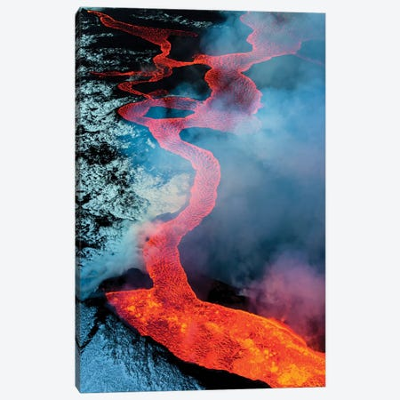 2014 eruption of Bardarbunga, Iceland Canvas Print #AWO4} by Art Wolfe Canvas Print