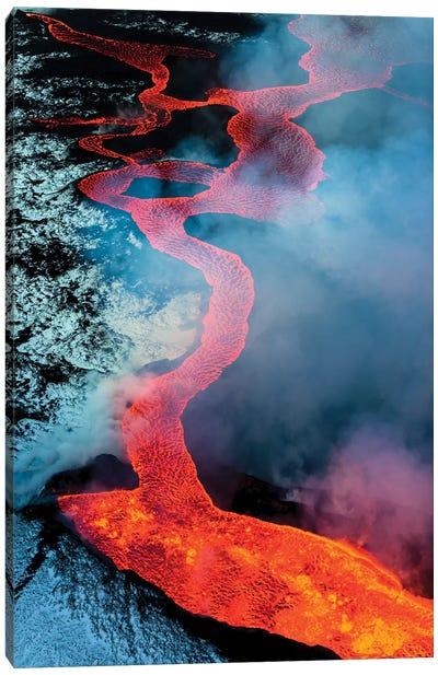 2014 eruption of Bardarbunga, Iceland Canvas Art Print