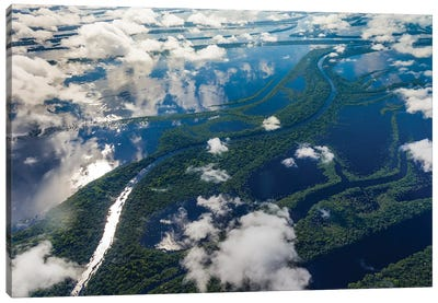 Aerial of Amazon River Basin, Manaus, Brazil I Canvas Art Print