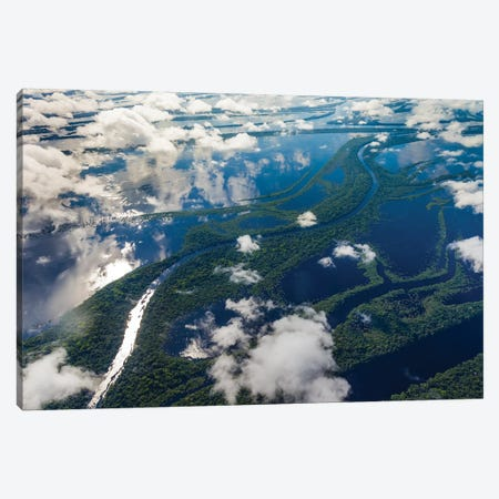 Aerial of Amazon River Basin, Manaus, Brazil I Canvas Print #AWO5} by Art Wolfe Art Print