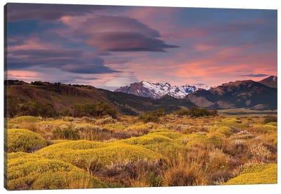 Argentina, Patagonia landscape Canvas Art Print