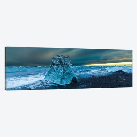 Bergy bits, Iceland I 3-Piece Canvas #AWO9} by Art Wolfe Canvas Art