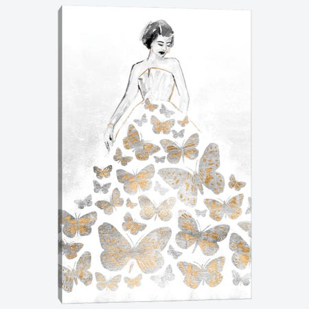Fluttering Gown II Canvas Print #AWR106} by Annie Warren Canvas Art