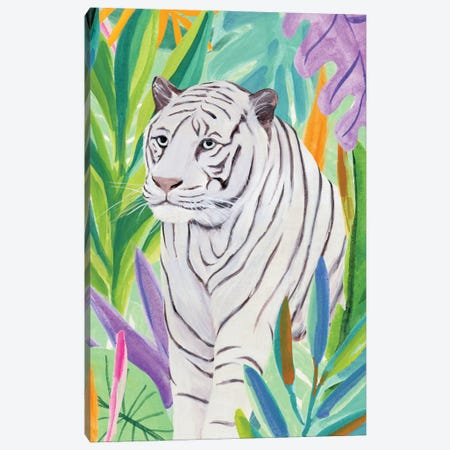 Tropic Tiger I Canvas Print #AWR109} by Annie Warren Art Print