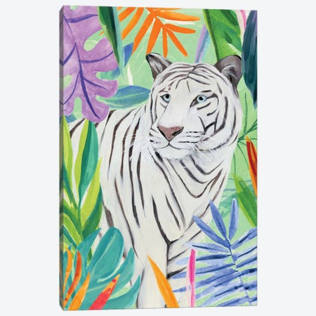 Tropic Tiger II Canvas Print #AWR110} by Annie Warren Canvas Artwork