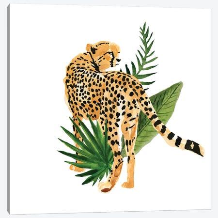 Cheetah Outlook III 3-Piece Canvas #AWR11} by Annie Warren Canvas Artwork