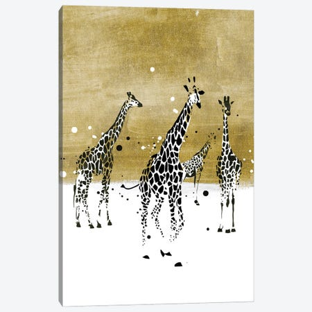 Spotted Giraffe II Canvas Print #AWR122} by Annie Warren Canvas Print