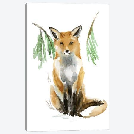 Snowy Fox I Canvas Print #AWR128} by Annie Warren Art Print