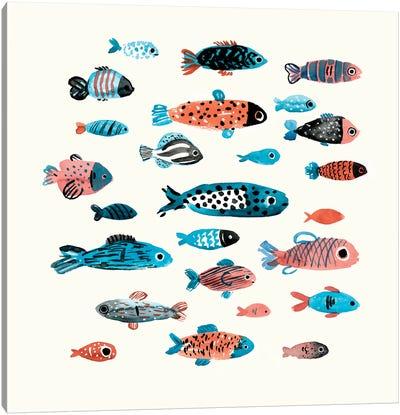 Fish School I Canvas Art Print