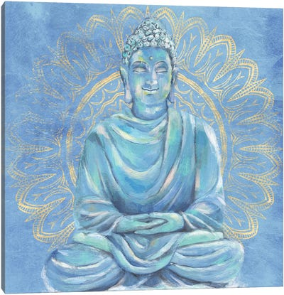 Buddha on Blue I Canvas Art Print