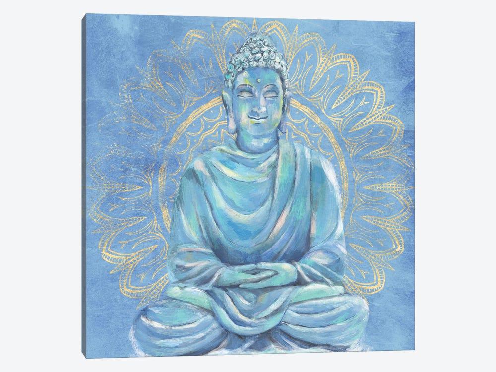 Buddha on Blue I by Annie Warren 1-piece Canvas Art