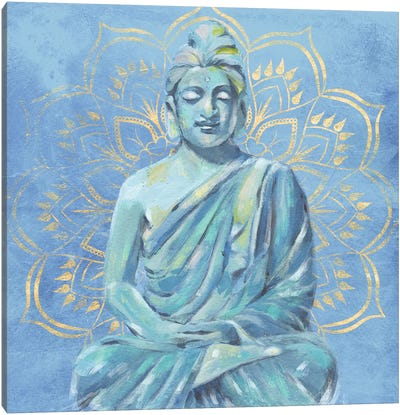 Buddha on Blue II Canvas Art Print
