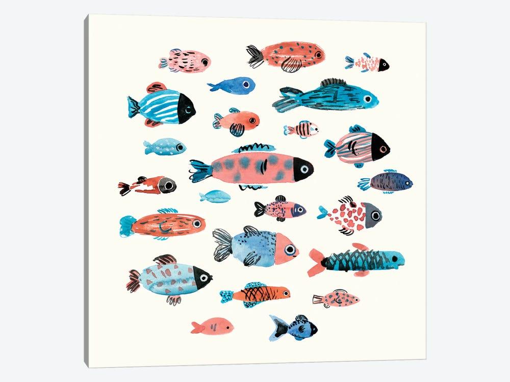Fish School II by Annie Warren 1-piece Canvas Wall Art