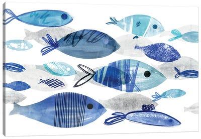 Fish Parade I Canvas Art Print
