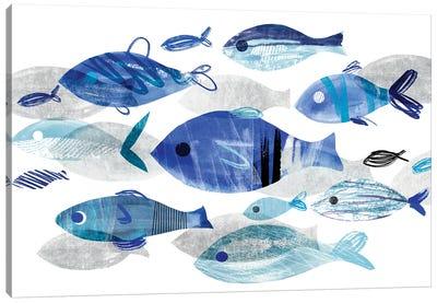 Fish Parade II Canvas Art Print