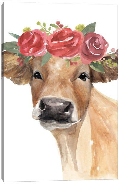 Flowered Cow II Canvas Art Print