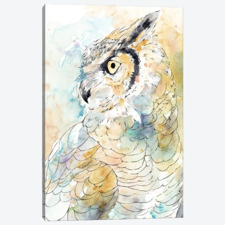 Owl Majestic I Canvas Print #AWR146} by Annie Warren Canvas Art