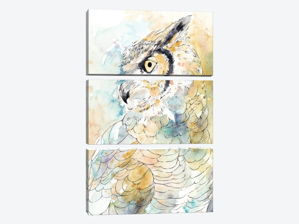 Owl Majestic I by Annie Warren 3-piece Canvas Print