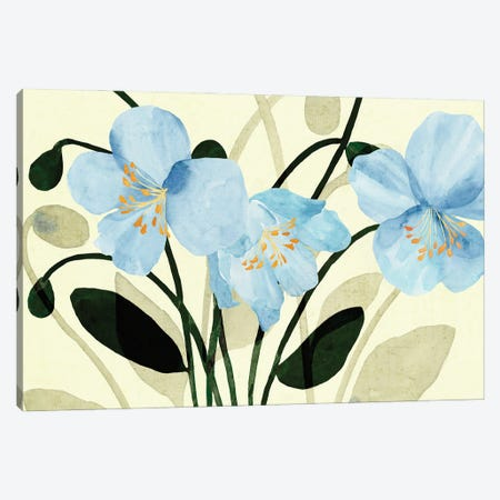 Blue Poppies II Canvas Print #AWR157} by Annie Warren Canvas Art Print