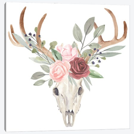 Branched Posy I Canvas Print #AWR159} by Annie Warren Canvas Artwork