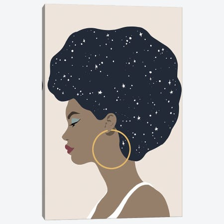Heavenly Hair I Canvas Print #AWR177} by Annie Warren Art Print