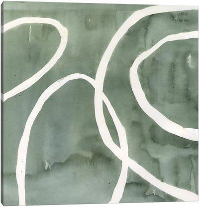 Moss Swirl I Canvas Art Print