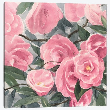 Watercolor Roses I Canvas Print #AWR205} by Annie Warren Canvas Print