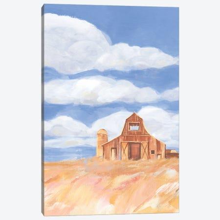 Wheatfield Barn I Canvas Print #AWR209} by Annie Warren Canvas Wall Art