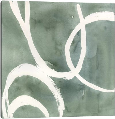 Moss Swirl II Canvas Art Print