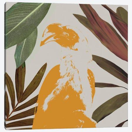 Graphic Tropical Bird II Canvas Print #AWR223} by Annie Warren Canvas Wall Art