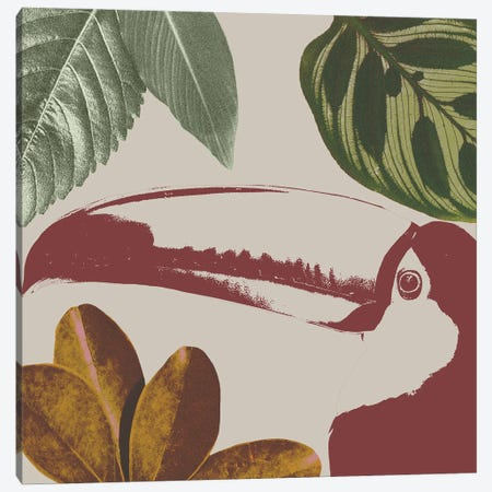 Graphic Tropical Bird V Canvas Print #AWR225} by Annie Warren Canvas Print