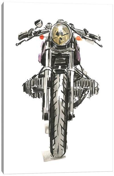 Motorcycles in Ink II Canvas Art Print