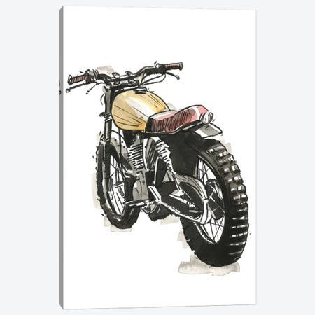 Motorcycles in Ink III Canvas Print #AWR23} by Annie Warren Canvas Print